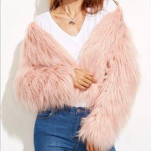 Jackets & Blazers - Pink Faux Fur Coat S or XS
